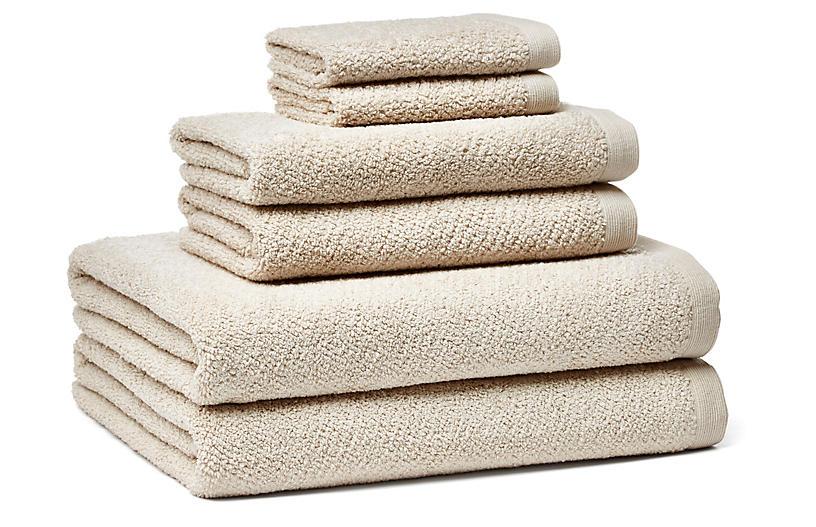 6-Pc Amalfi Towel Set, Linen