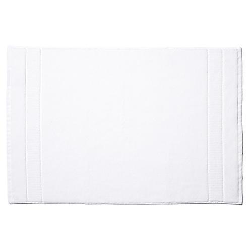 Dublin Bath Mat, White