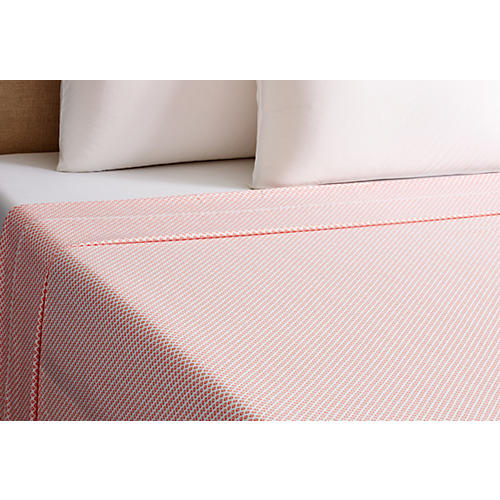 Emma Flat Sheet, Coral