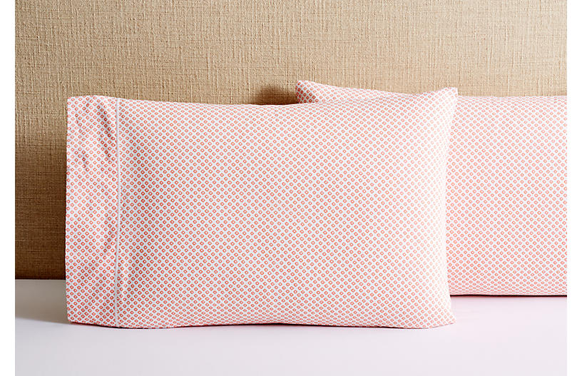 S/2 Emma Pillowcases, Coral