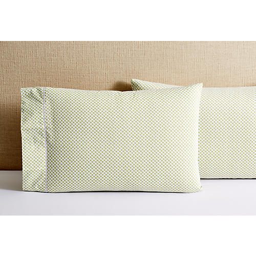 S/2 Emma Pillowcases, Green