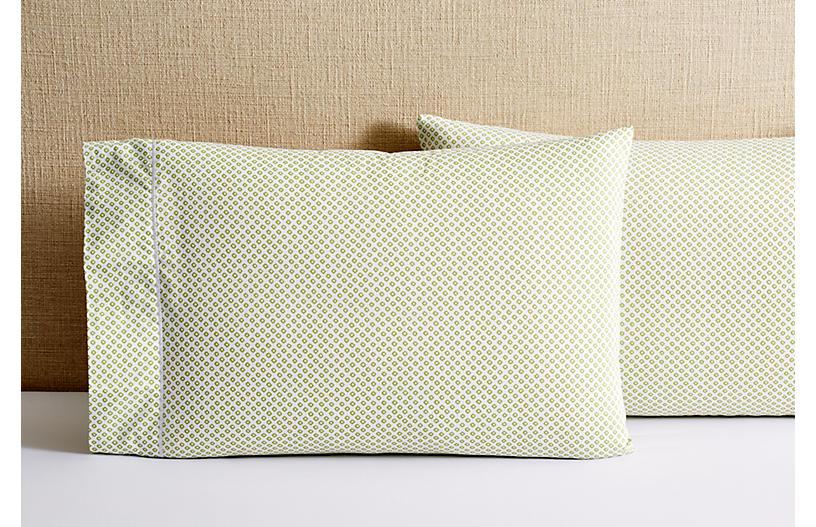S/2 Emma Pillowcases, Green