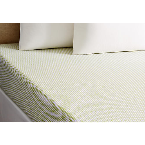 Emma Fitted Sheet, Green