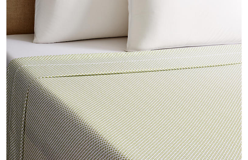 Emma Flat Sheet, Green