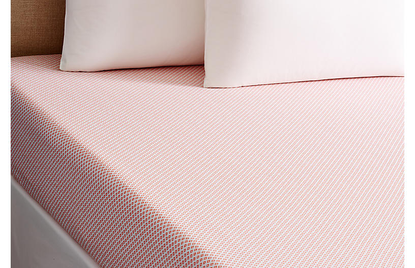 Emma Fitted Sheet, Coral