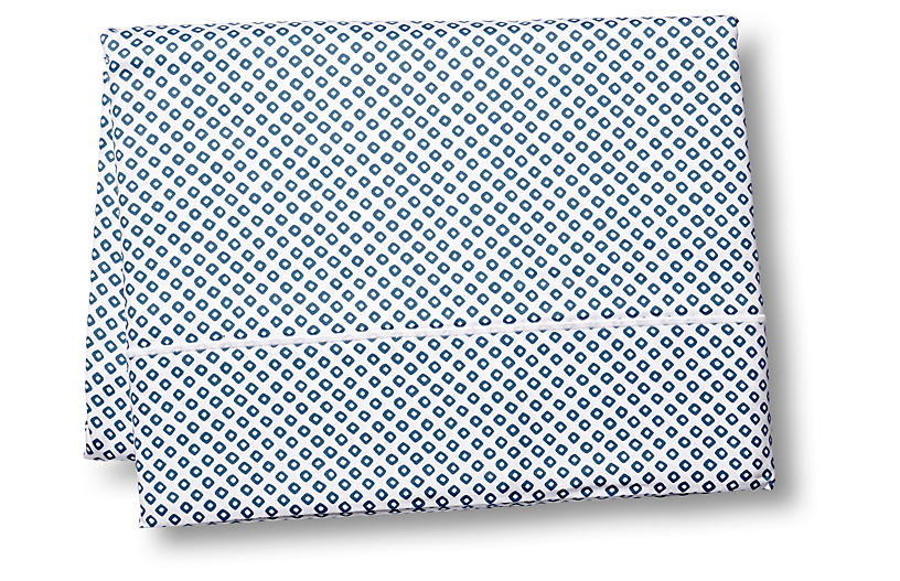 Emma Flat Sheet, Blue