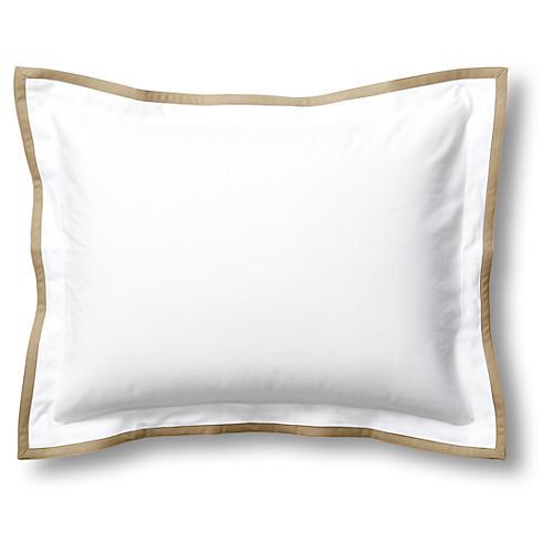 Pique Tailored Sham, Linen White