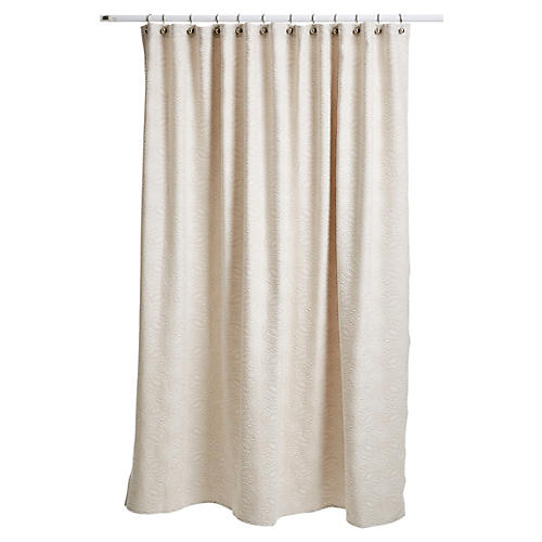 Vienna Shower Curtain, Linen