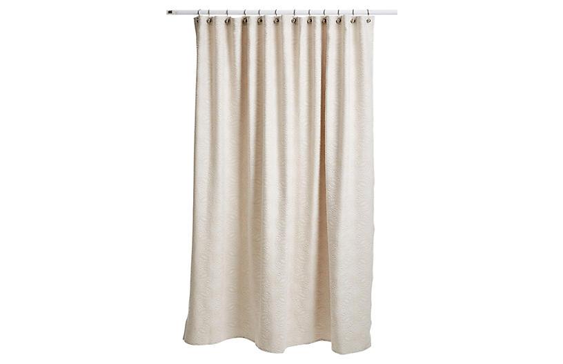 Vienna Shower Curtain, Linen