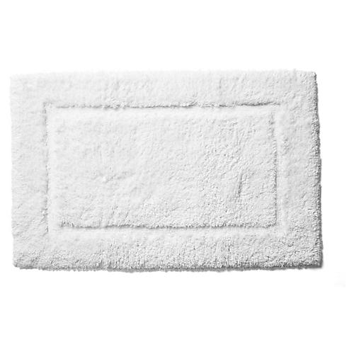 Tiffany Bath Rug, White