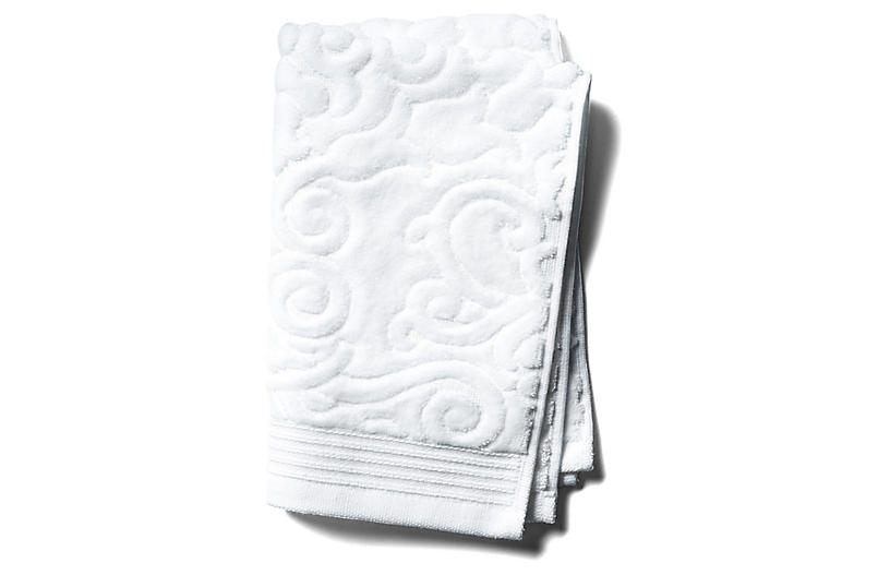 Park Avenue Guest Towel, White