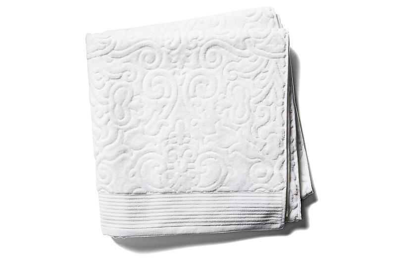 Park Avenue Bath Towel, White