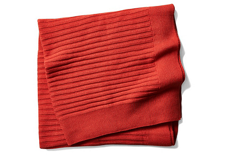 Captiva Cotton Throw, Red