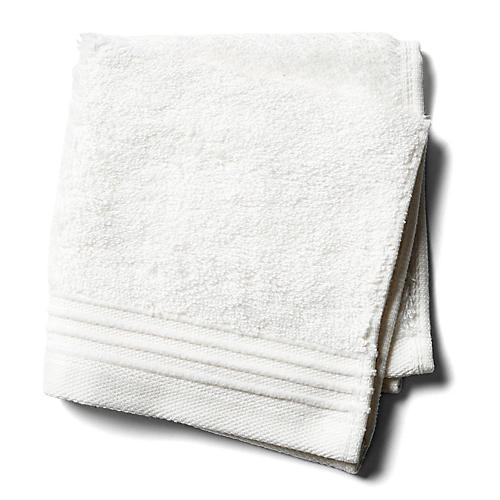 Plaza Washcloth, White