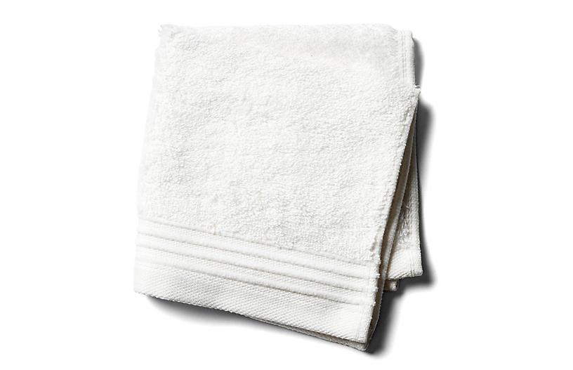 Plaza Washcloth, White