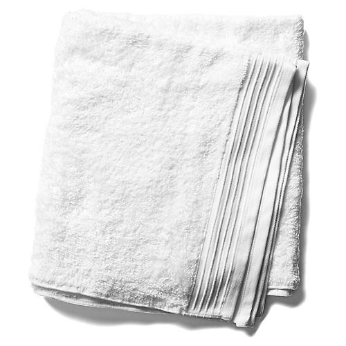 Plaza Bath Towel, White
