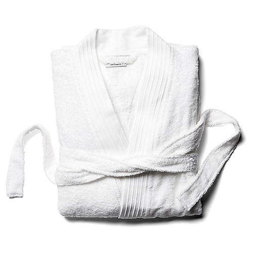 Plaza Bathrobe, White