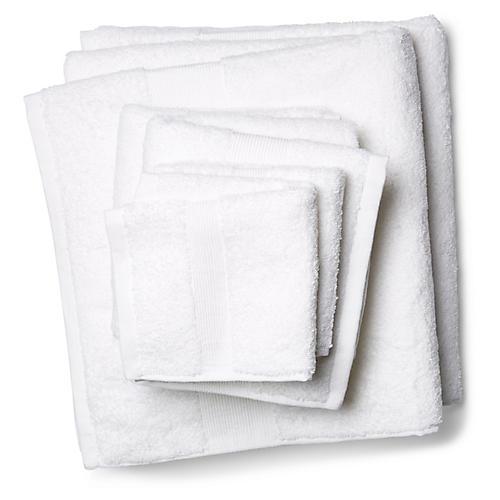 6-Pc Del Ray Towel Set, White