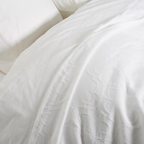 Amber Coverlet, White