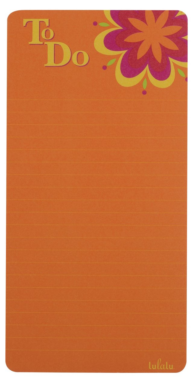 S/2 To Do Notepad, Orange