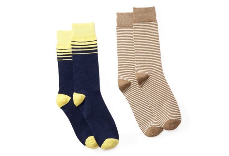 Brown Sailor Stripe & Yellow Blue Stripe