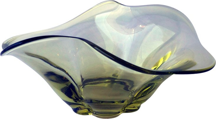 Pale Gold Glass Dish