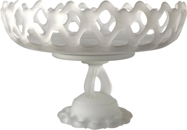 Frosted Glass Footed Bowl