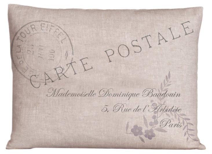 French Postal 20x26 Pillow, Nordic Blue