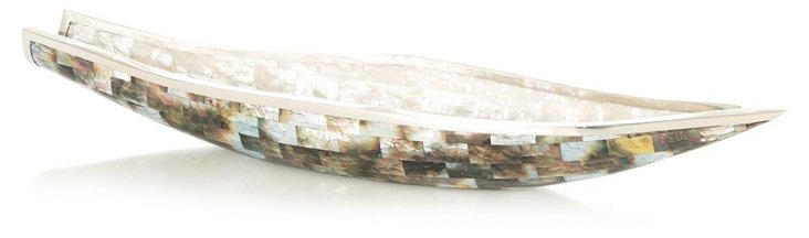 "18"" Mother-of-Pearl & Shell Bowl"