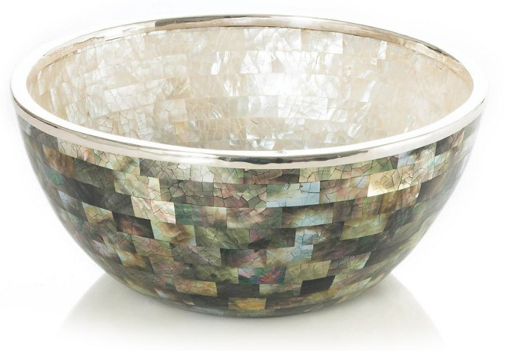 Mother-of-Pearl & Sterling Silver Bowl