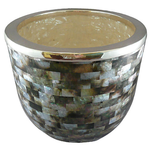 Mother-of-Pearl & SS Champagne Bucket