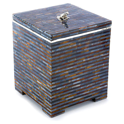 "7"" Box w/ Sterling Accent, Blue"