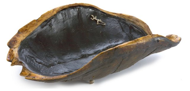 Snapper-Turtle Dish w/ Sterling Silver