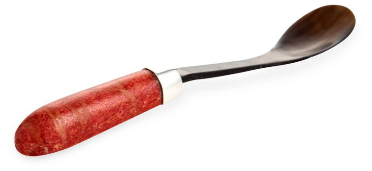 Red Coral & Horn Long Parfait Spoon