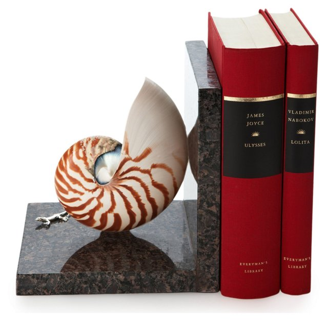 Nautilus Bookend w/ Sterling Silver