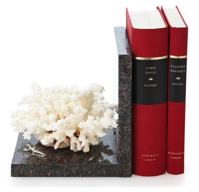 Bush Coral Bookend w/ Sterling Silver