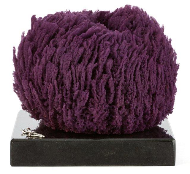 Purple Glove Sponge on Marble & SS Base