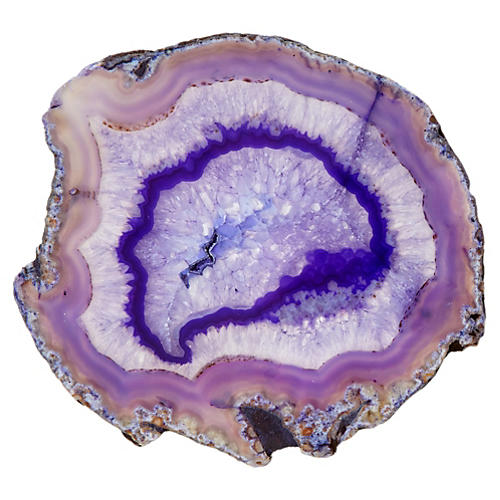 "7"" Agate Slice, Purple"