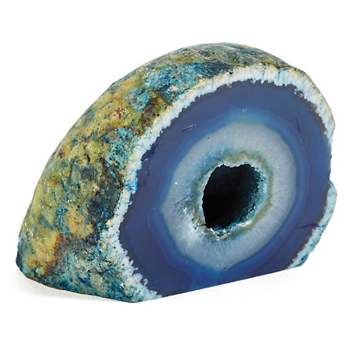 Agate Paperweight, Blue
