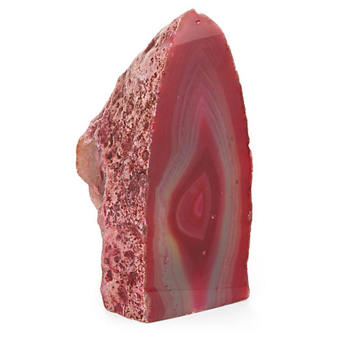 Agate Paperweight, Red