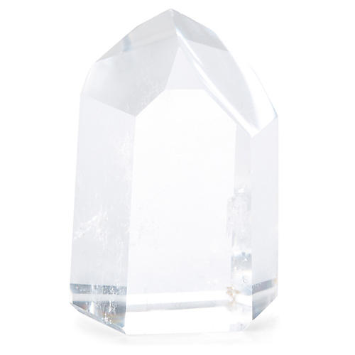 "3"" Quartz Crystal, Clear/White"