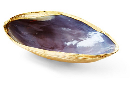 18-Kt Rose-Gold-Plated Oyster Shell