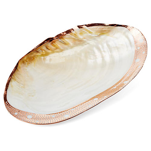 Copper-Plated Freshwater Shell