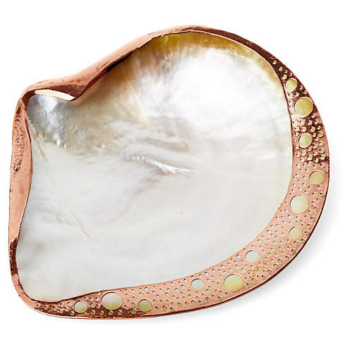 Copper-Plated Mother-of-Pearl Shell