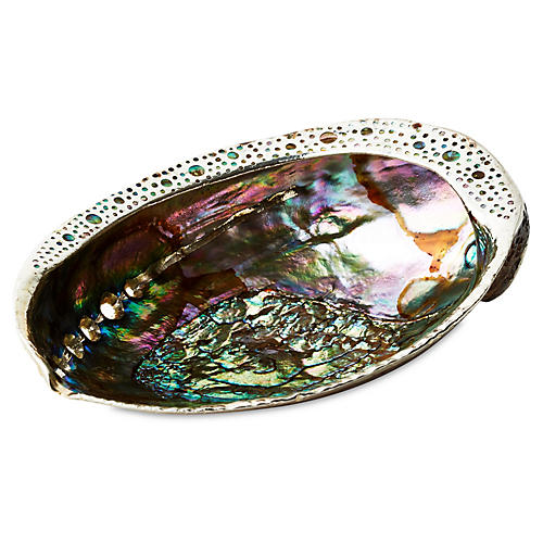 Pāua Abalone Shell w/ Sterling Silver