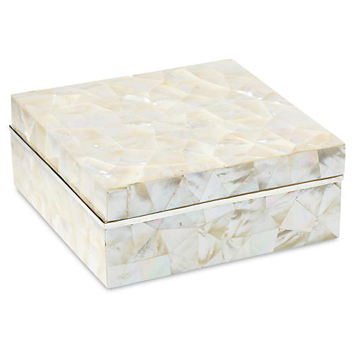 Mother-of-Pearl Box w/ Sterling Silver