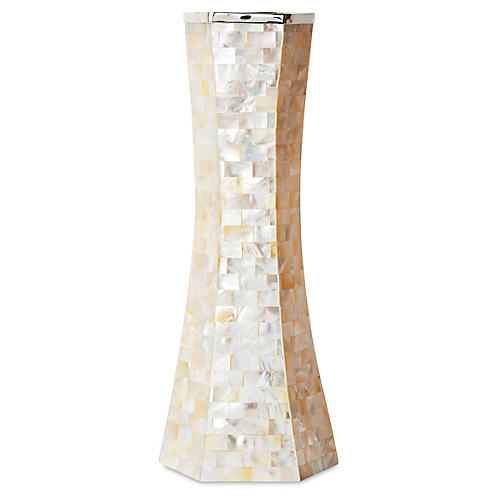 """10"""" Mother-of-Pearl Vase w/ SS"""
