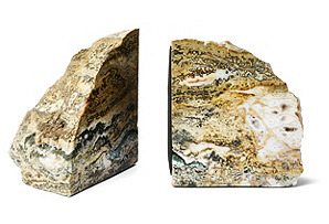 Polished Sea Jasper Bookends, Pair*