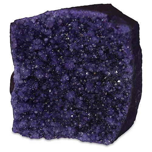 "4"" Drusy Quartz Geode, Purple"