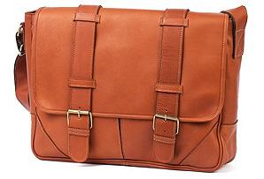 Sorrento Leather Messenger, Saddle